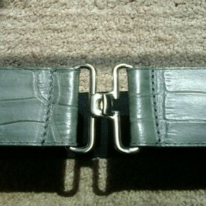 Kenneth Cole New York Croc Embossed Leather Belt
